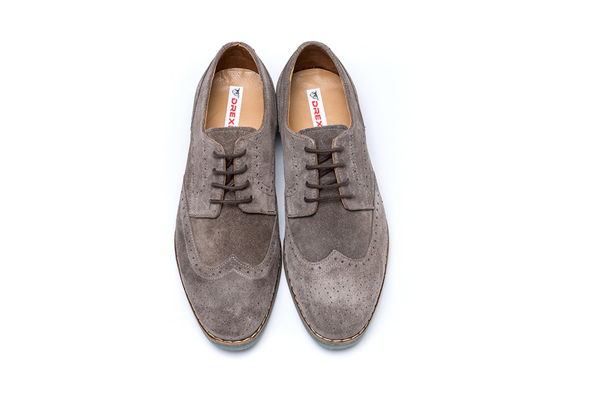 Sampo Suede Leather Shoes - Mink Color