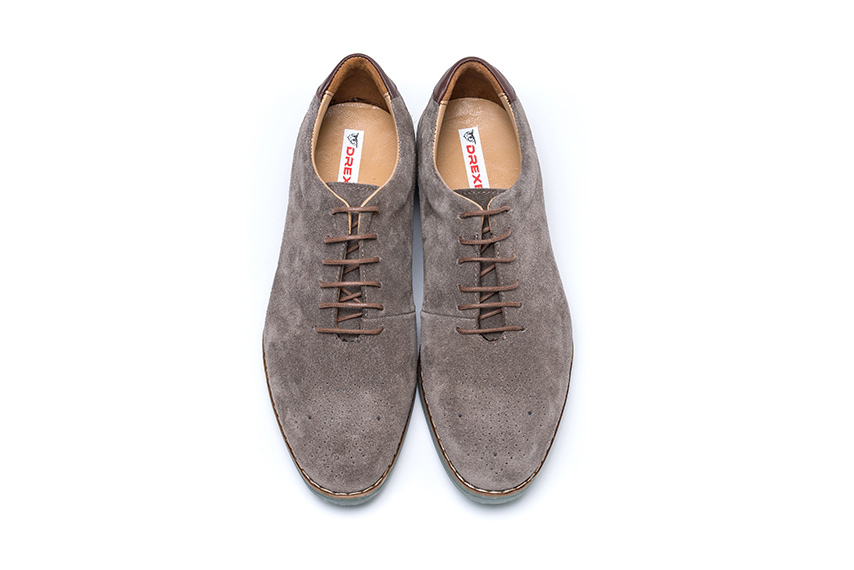 Transparante Suede Leather Shoes - Mink