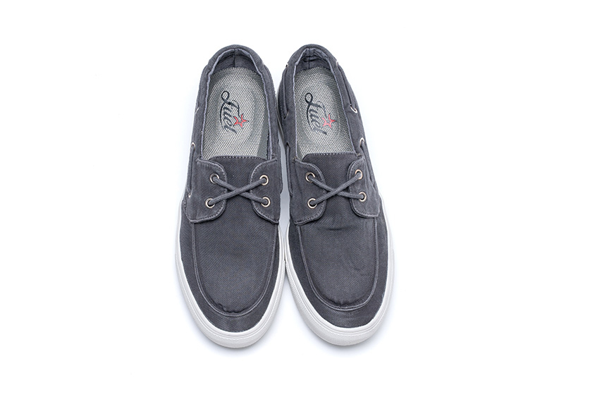 Lotus Linen Shoes - Anthracite