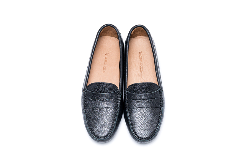 Summer Leather Shoes - Navy