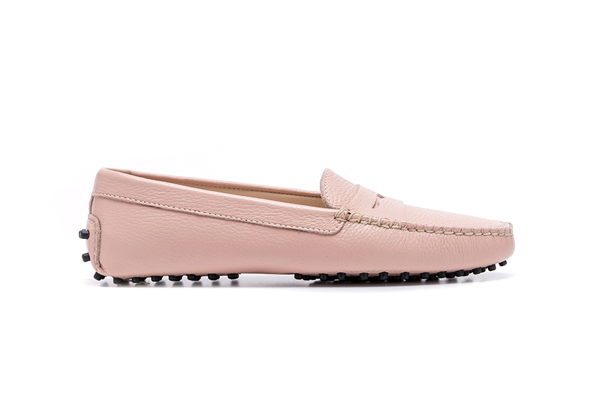 Summer Leather Shoes - Pink