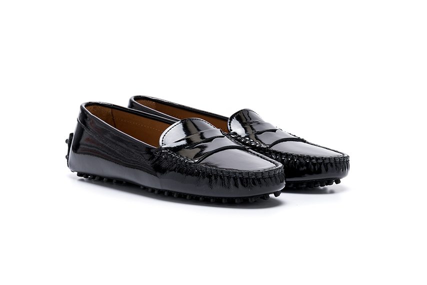 Summer Leather Shoes - Black Patent Leather