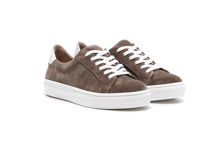 Soft Suede Leather Shoes - Mink
