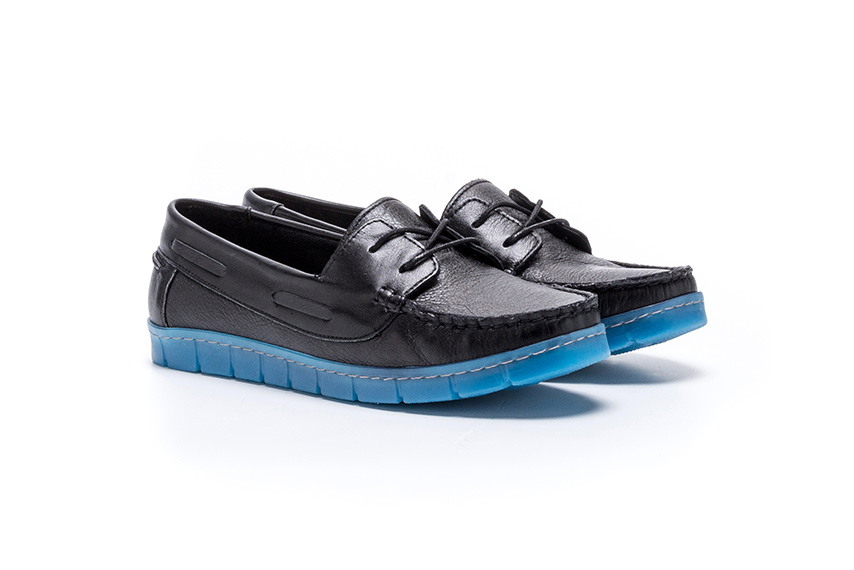Also Lace Leather Shoes - Black