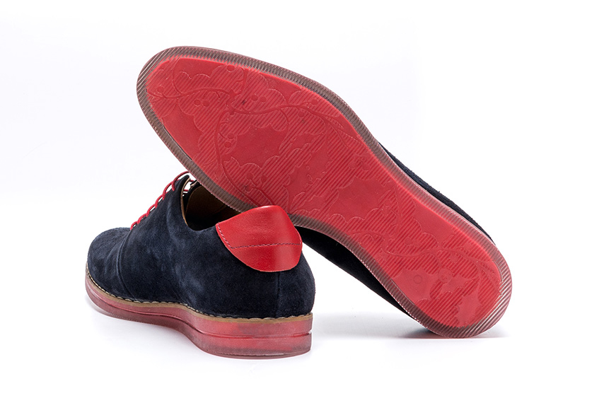 Transparente Suede Leather Shoes - Navy