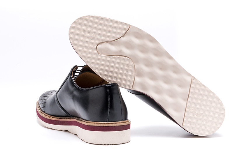 Polvere Leather Shoes - Black