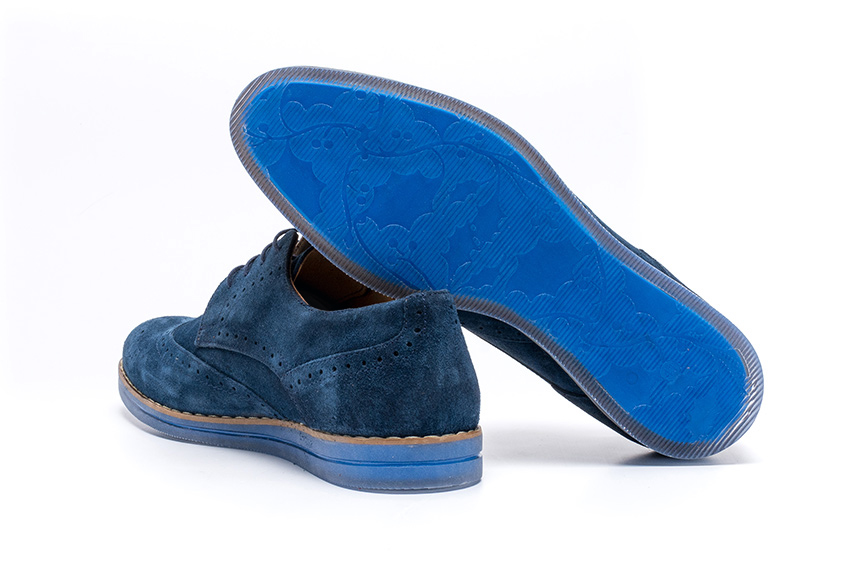 Sampo Suede Leather Shoes - Navy