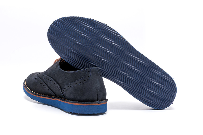 Vitality Nubuck Leather Shoes - Navy