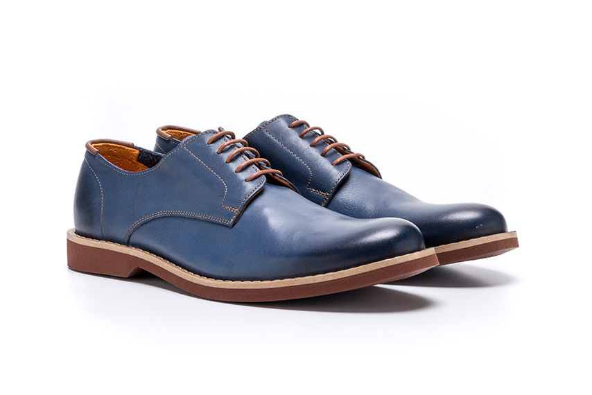 Classico Leather Shoes - Blue