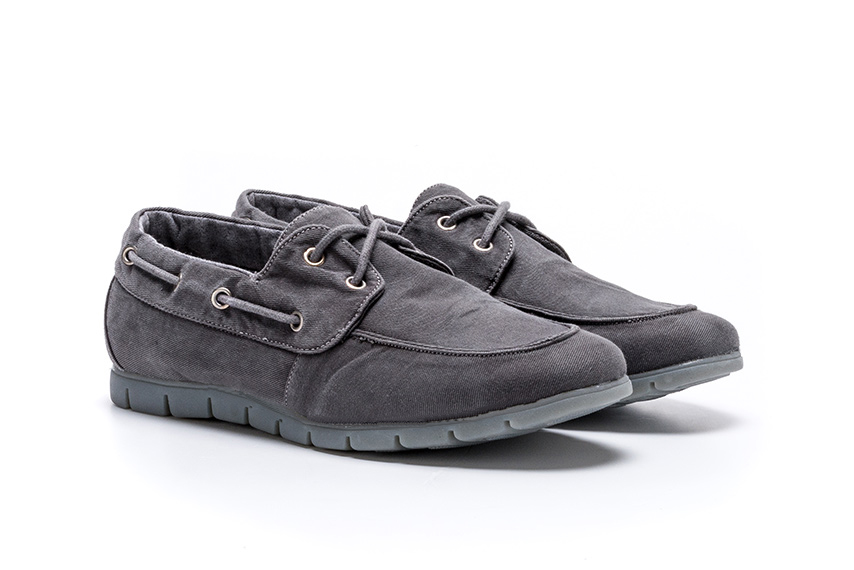 Comfort Linen Shoes - Anthracite