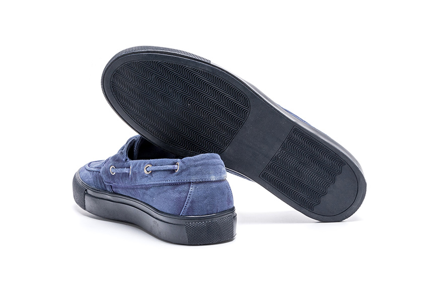 Lotus R-R Linen Shoes - Indigo