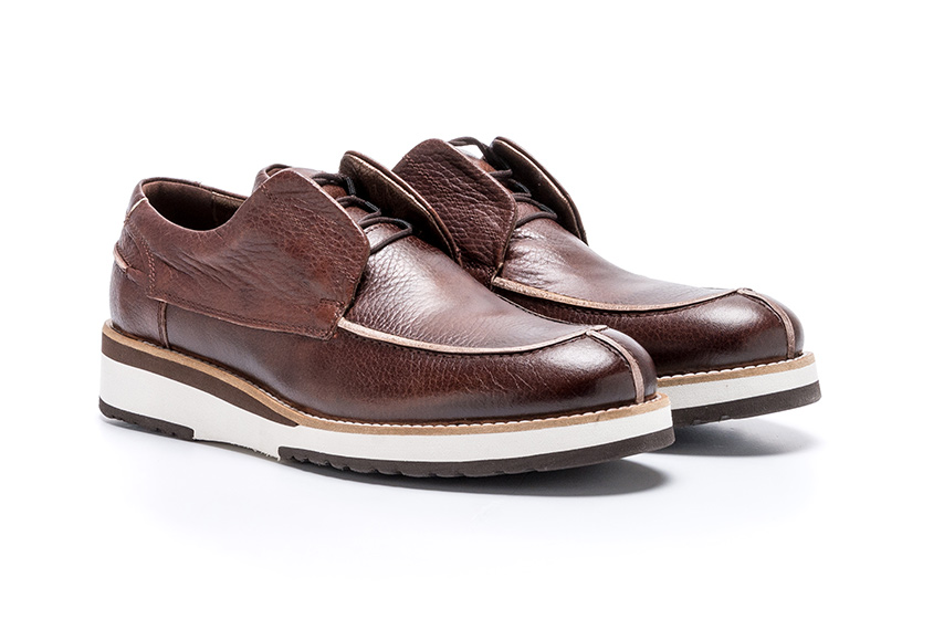 Vita Lace Leather Shoes - Brown