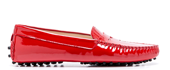 Summer Leather Shoes - Patent Leather In Red